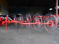 Грабли-ворошилки Wirax на круглой усиленной трубе (5 секций, спица оцинкованная) Польша