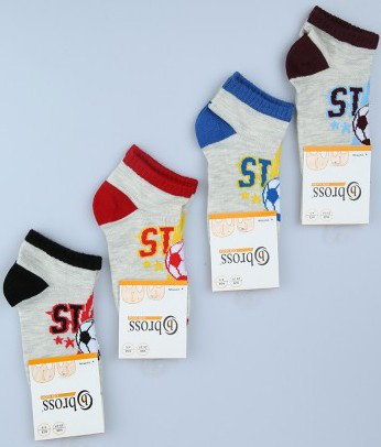 Р. 34-36 ( 9-11 лет ) носочки Bross летние Футбол
