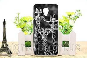 Чехол Meizu M2 / M2 mini Бампер Жирафы