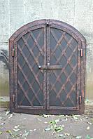 "Дверка  коптильни 2 х ств.""арка"" 570*500 мм металлическая ковка ""елка"""