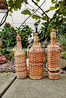 Плетеные бутылки на подарок ( 3 шт.), фото 1