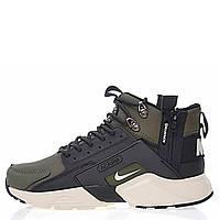 "Кроссовки Nike Huarache X Acronym City MID Leather ""Haki/Black"" Арт. 2003"