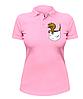 Женская футболка-поло с динозавром в кармане, фото 2