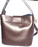 Женские сумки эко кожа (синий)30*29, фото 2