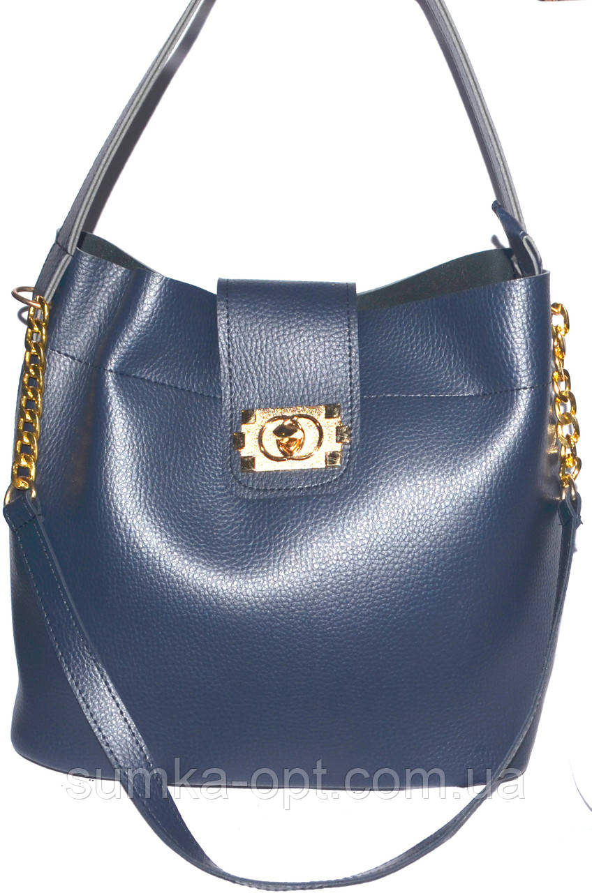 Женские сумки эко кожа (синий)30*29