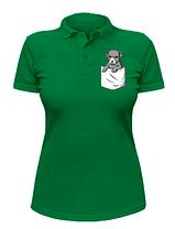 Женская футболка-поло с собачкой в кармане, фото 3