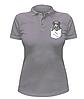 Женская футболка-поло с собачкой в кармане, фото 4