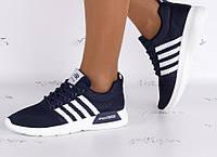 Женские кроссовки Adidas nmd синие, копия