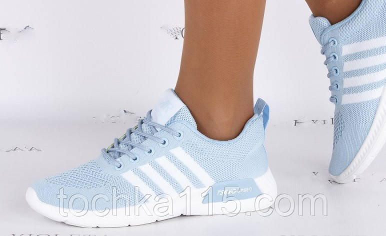 Женские кроссовки Adidas nmd голубые, копия, фото 1