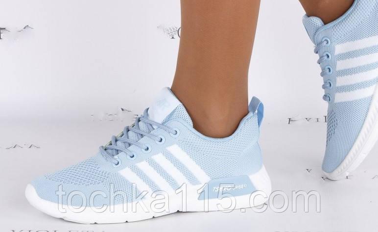 Женские кроссовки Adidas nmd голубые, копия