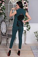 Стильный костюм с жилеткой и брюками,декорирован кружевом .ИБР50363008, фото 1