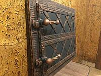 Дверки духовки коптилки хлебные металл+ковка 330*430 мм