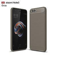Чехол Carbon для Xiaomi Mi Note 3 бампер оригинальный Gray