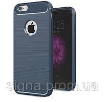 Чехол Бампер Carbon для Iphone 6 Plus / 6s Plus оригинальный Blue