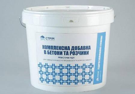 Добавка в бетон для повышения водонепроницаемости Ремстрим-РДП, ведро 4 кг