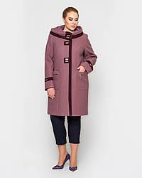 Пальто женское демисезонное 2115-15, 50-60р.Большой размер