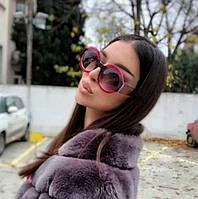 Женские брендовые очки круглой формы Gucci двуцветная оправа