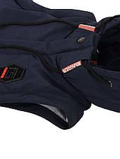 Детская демисезонная куртка жилетка на мальчика, т. синяя, р.140,152, фото 3