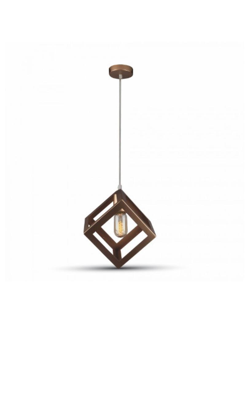 Подвесной Светильник Золотистый Куб