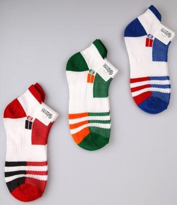 Р. 31-33 ( 7-9 лет ) носочки Bross летние Спортивные полоска