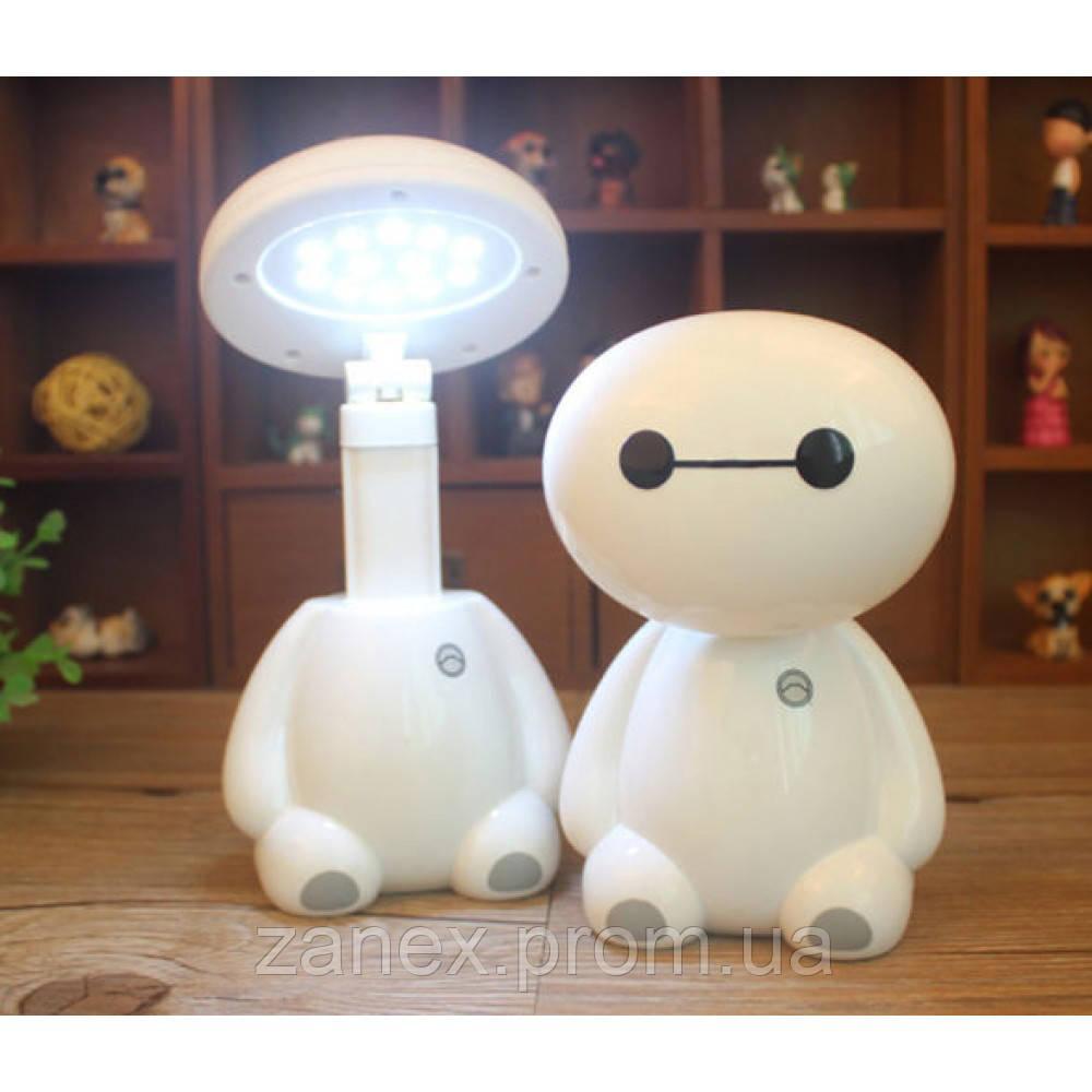 Лампа светодиодная мини настольная беспроводная Беймакс (Город Героев)