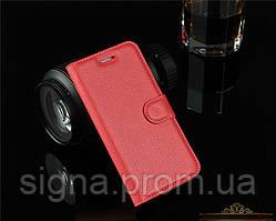Чехол Книжка для iPhone 5 / 5s кожа PU красный