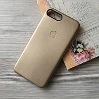 Золотой оригинальный чехол Apple iphone 7+/8+ под кожу