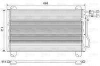 Радиатор кондиционера Mercedes Sprinter 2-4t (без осушителя) 665*371мм по сотах