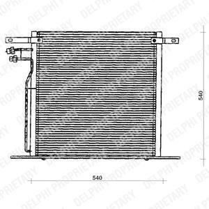 Радиатор кондиционера Mercedes Vito 638 540*541мм по сотах (без осушителя) KEMP