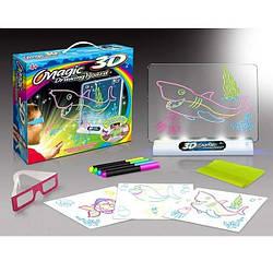 Доска для рисования Magic Drawing Board 3D набор игровой 3Д