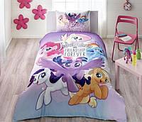 Детское подростковое постельное белье TAC Little Pony Movie Ранфорс