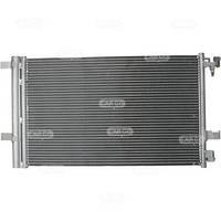 Радиатор кондиционера Opel Astra J (CDTI) Chevrolet Cruze (с осушителем) 635*359мм по сотах