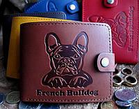 Эксклюзивное кожаное портмоне № 2 Бульдог, фото 1