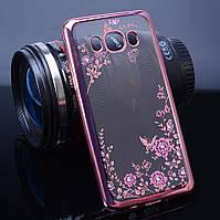 Чехол Luxury для Samsung J1 2016 J120 бампер Rose Gold