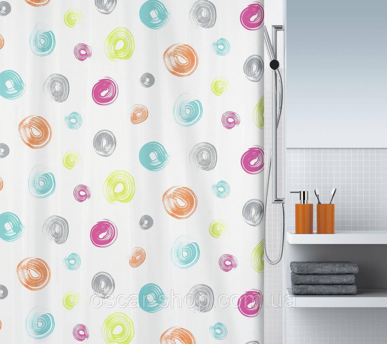 Шторка для ванной текстильная Spirella BRUSH 180х200
