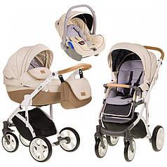 Детская универсальная коляска 3 в 1 Mioobaby Zoom Caramel Cream