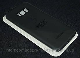 Чехол силиконовый Samsung G955/S8 Plus, черный,Matte Soft