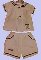 Комплект моряцкий для девочки : блуза и шортики