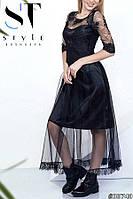 Нарядное кружевное платье в пол (2 расцветки) 4073, фото 1