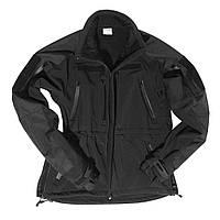 """Куртка """"Softshell Plus"""" демисезонная Чёрный Mil-tec Германия"""