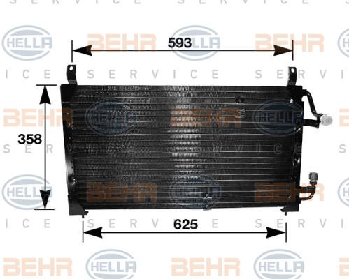 Радиатор кондиционера Daewoo Nexia (без осушителя)