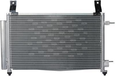 Радиатор кондиционера Daewoo Matiz 510*308мм по сотах (с осушителем) KEMP