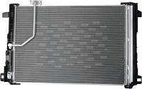Радиатор кондиционера Mercedes C-Class E-Class W204 W212 W207 (с осушителем) 610*420мм по сотах