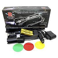 Фонарь Police 12V Q2800-T6, 3фильтра Подствольный фонарик, Тактический ручной фонарик