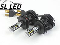 LED лампы в головной свет серии SX5 Цоколь H4, 25W, 3000 Люмен/Комплект