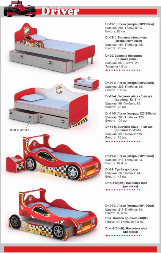 Кровати Driver в ассортименте