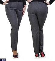 Прямые костюмные женские брюки батал