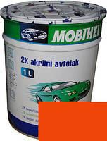 """Автокраска 295О (1025) Эмаль акриловая Helios Mobihel """"Оранжевая"""" 1л без отвердителя"""