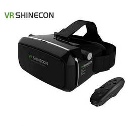 Очки 3D виртуальной реальности чёрные с пультом VR BOX SHINECON