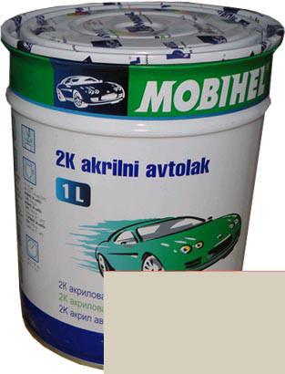 """Автокраска 295 Эмаль акриловая Helios Mobihel """"Сливочно-белая"""" 1л без отвердителя"""